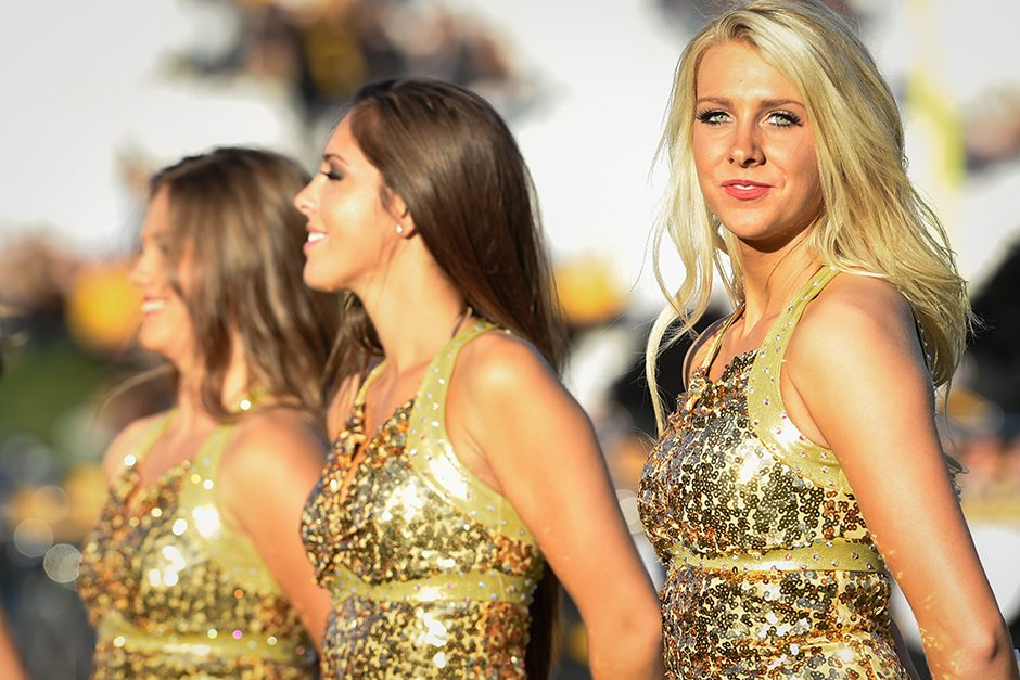 The Golden Girls perform during half-time. Photo by Shane Epping.