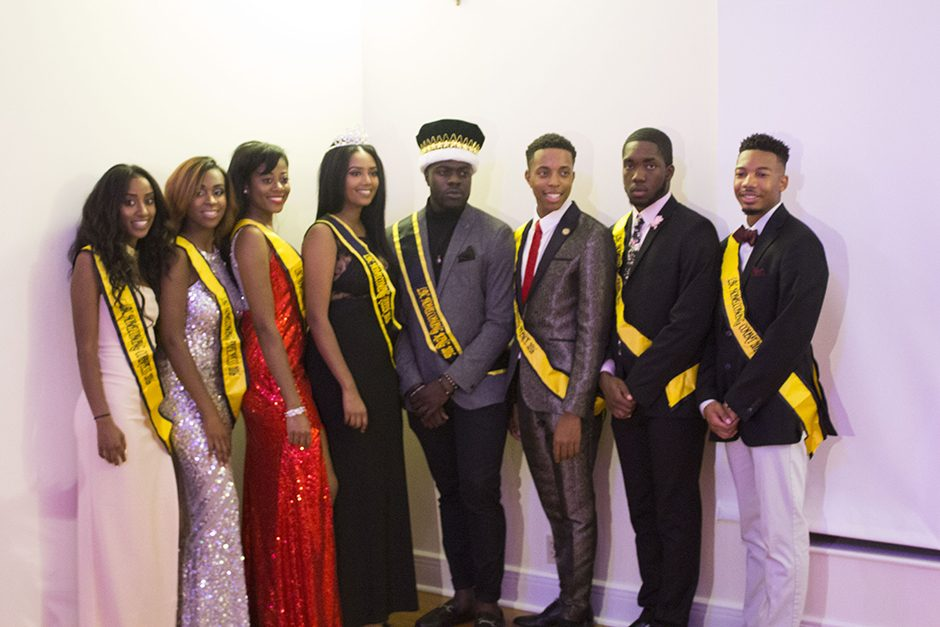 The winners of the Legion of Black Collegians Homecoming Court pose for a picture. Photo by Ymani Wince