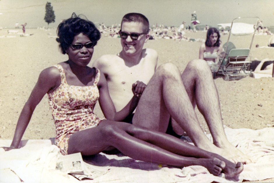 John Logsdon and Gloria Newton Logsdon on a beach in the 1960s.