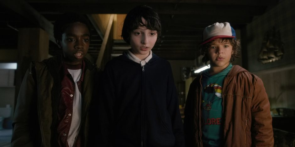 Caleb McLaughlin, Finn Wolfhard and Gaten Matarazzo