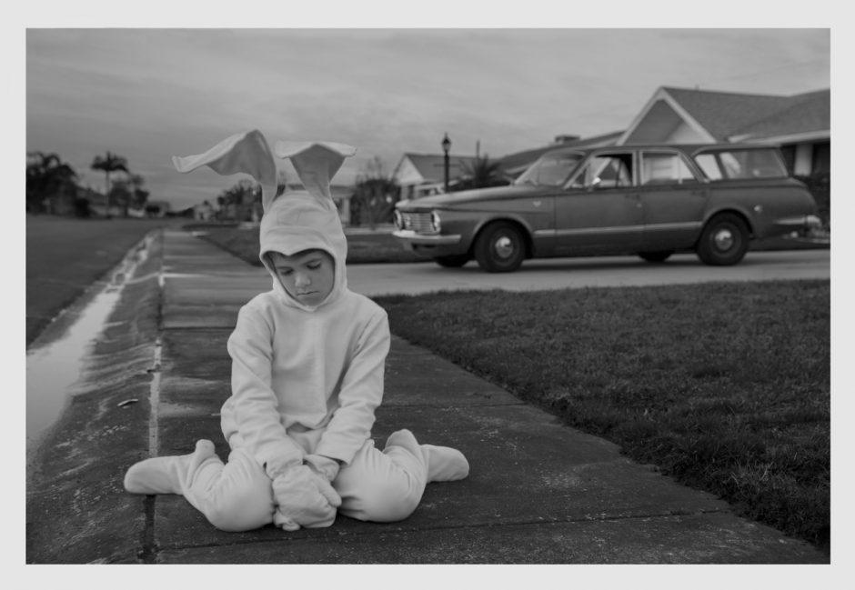 Boy in a bunny suit