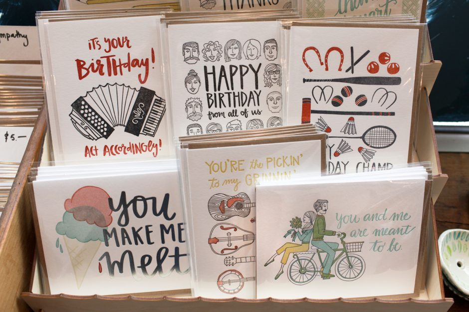 Birthday cards.