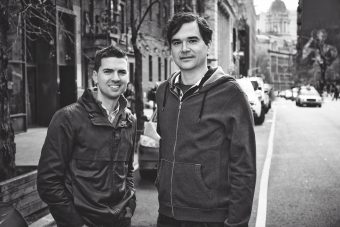 Tom Meyers and Greg Young on the streets of New York.