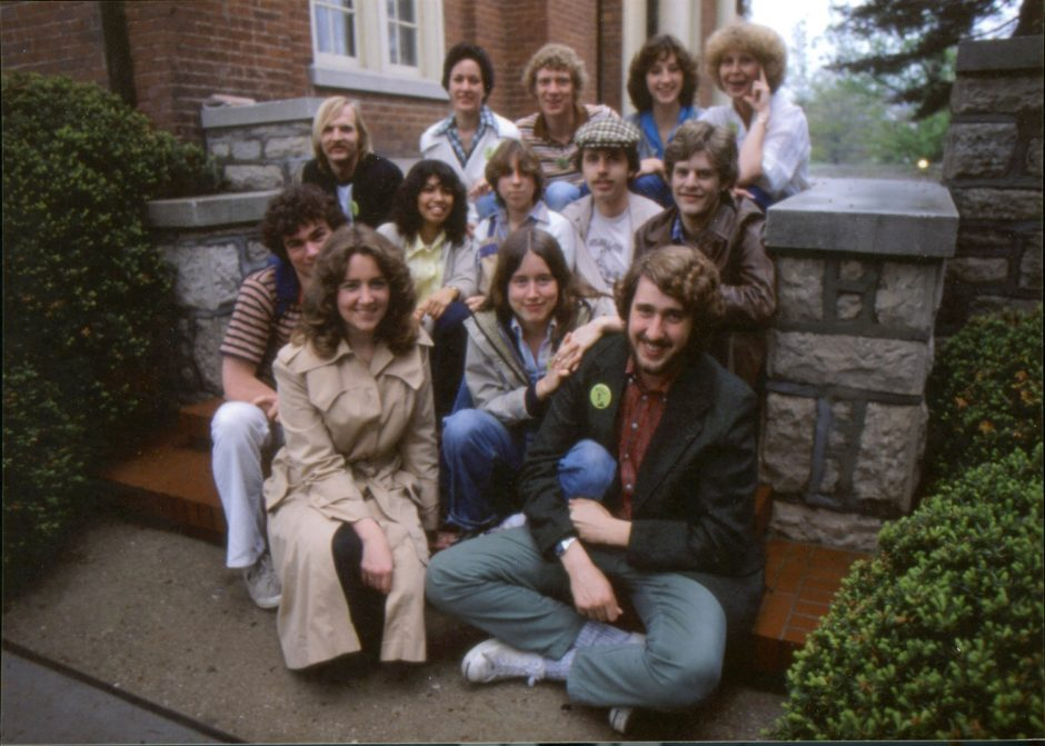 Group photo of college students from 1970s.