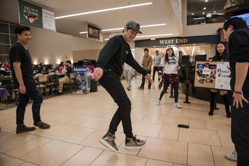 Student dancing.