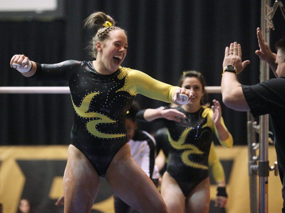 gymnasts cheering