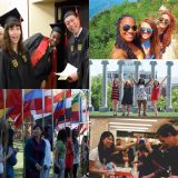 Collage of international and multiracial students.