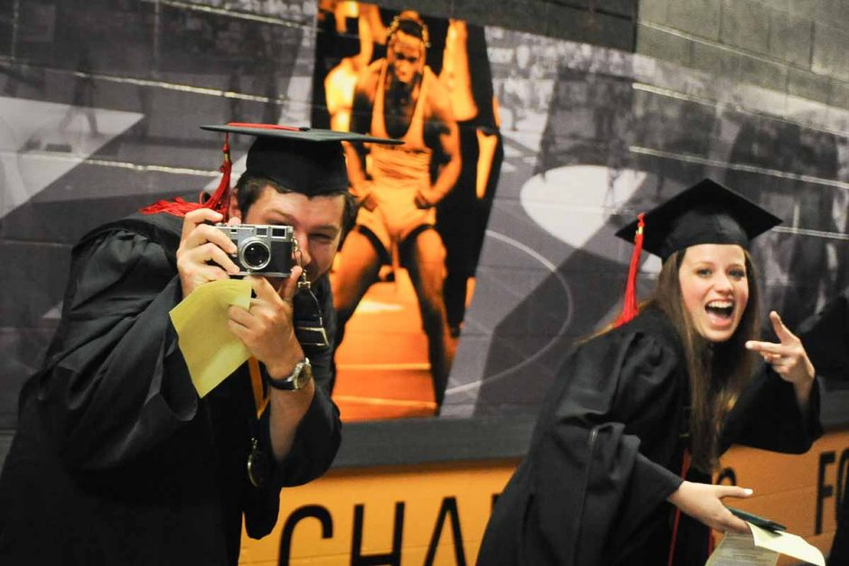Student with camera.