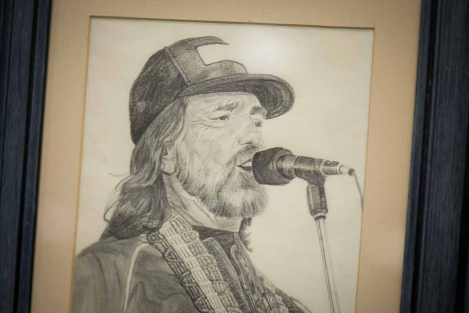 Drawing of Willie Nelson