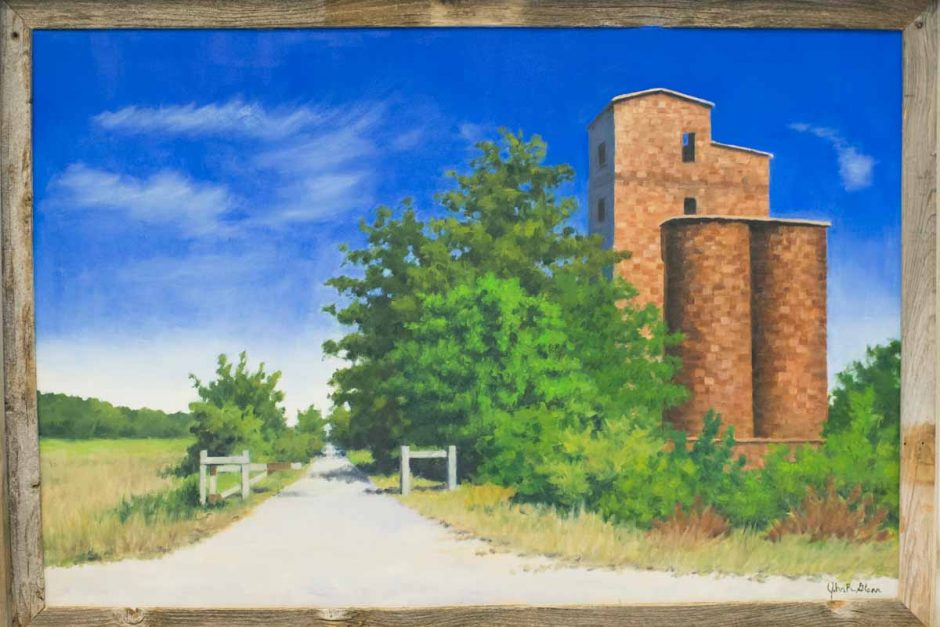 Painting of grain silos