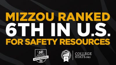 Mizzou ranked 6th in nation for safety resources