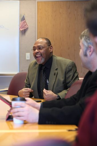 Earnest Perry laughing