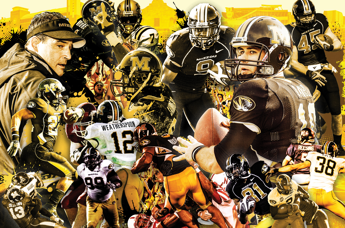 collage of football players