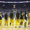 basketball players standing
