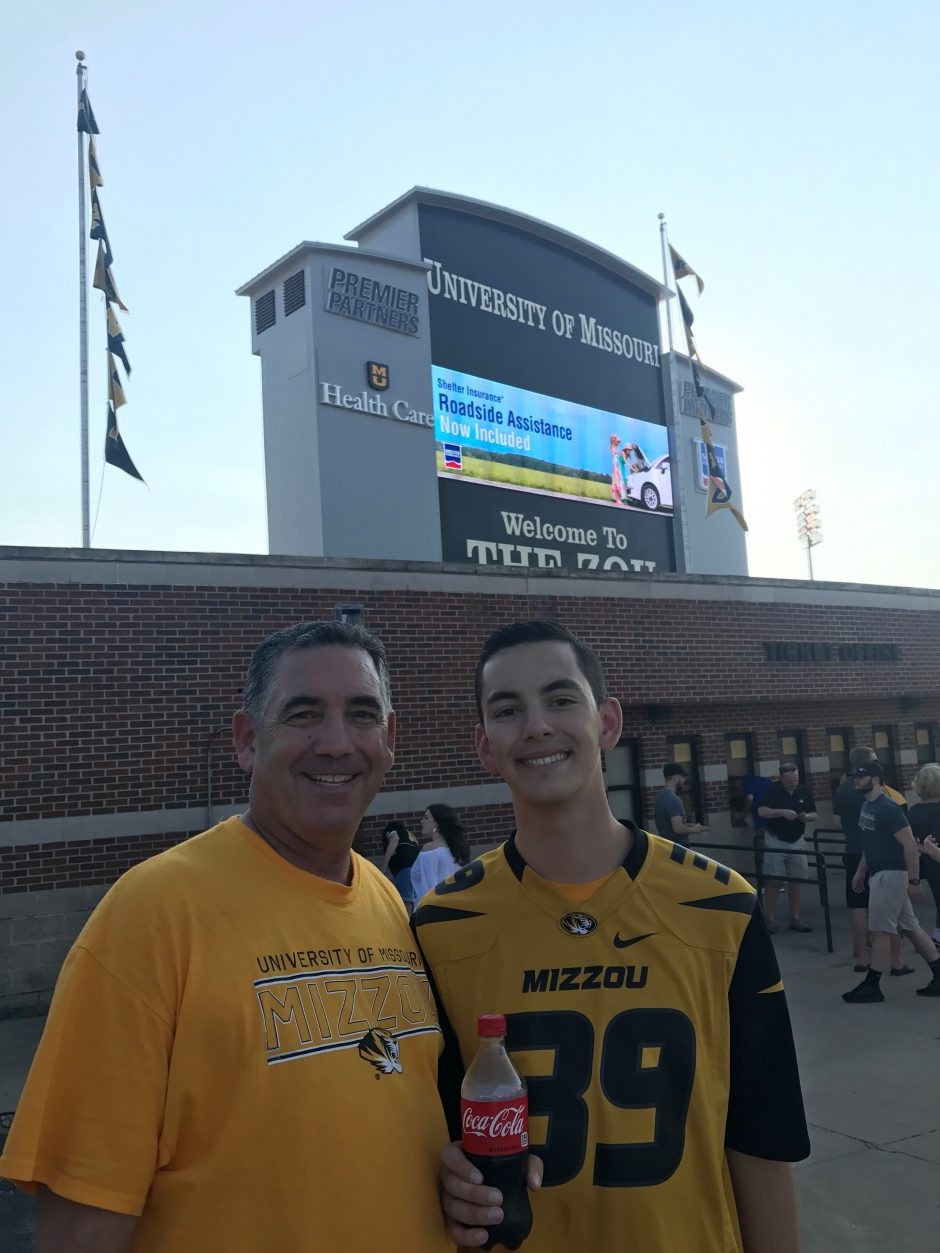 Mark and Mike Magnante at Mizzou game