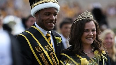This is a picture of Homecoming King Sean Earl and Homecoming Queen Tori Schafer