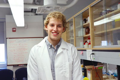 This is a picture of Pierce Bloebaum in his research lab