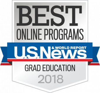 This is a badge from U.S. News and World Report for best ranking for graduate education programs