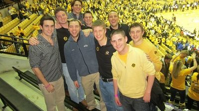 This is a picture of Fleming with friends at a Mizzou Basketball game