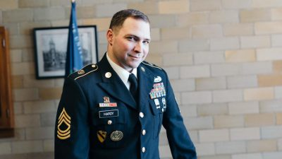 This is a picture of Master Sgt. Justin Hardy