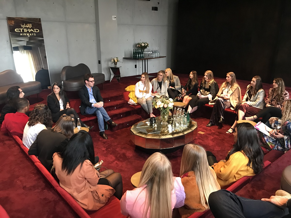 Picture of students at a New York Fashion week industry panel.