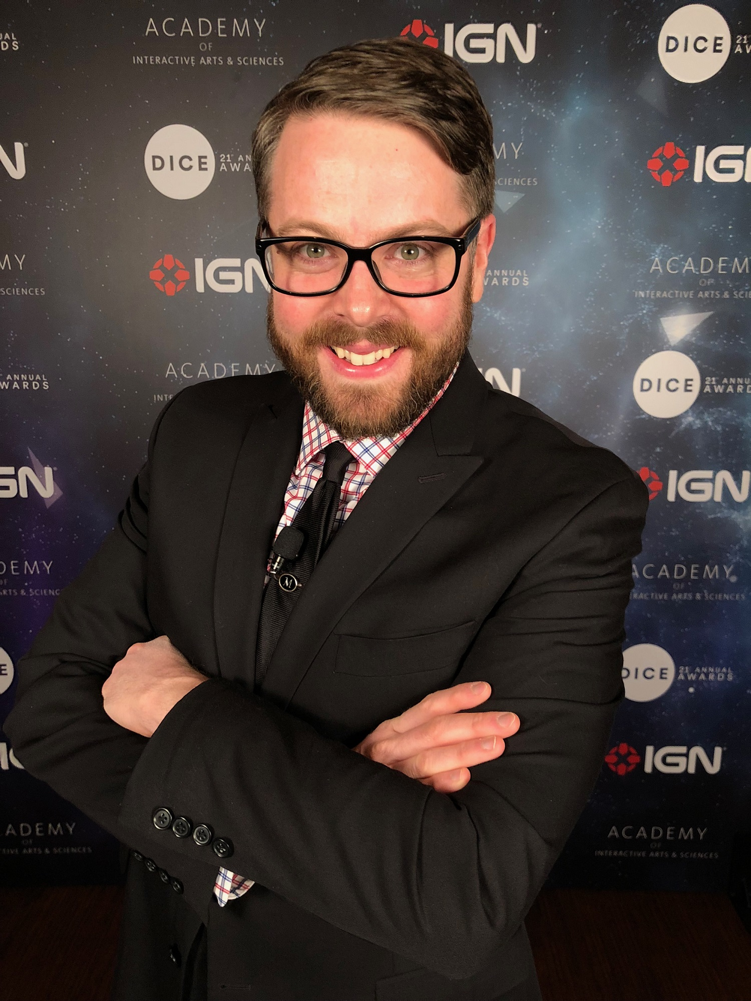 Picture of Greg Miller at the Academy of Interactive Arts and Sciences awards
