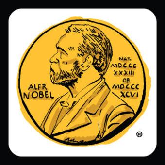 Illustration of Nobel medal