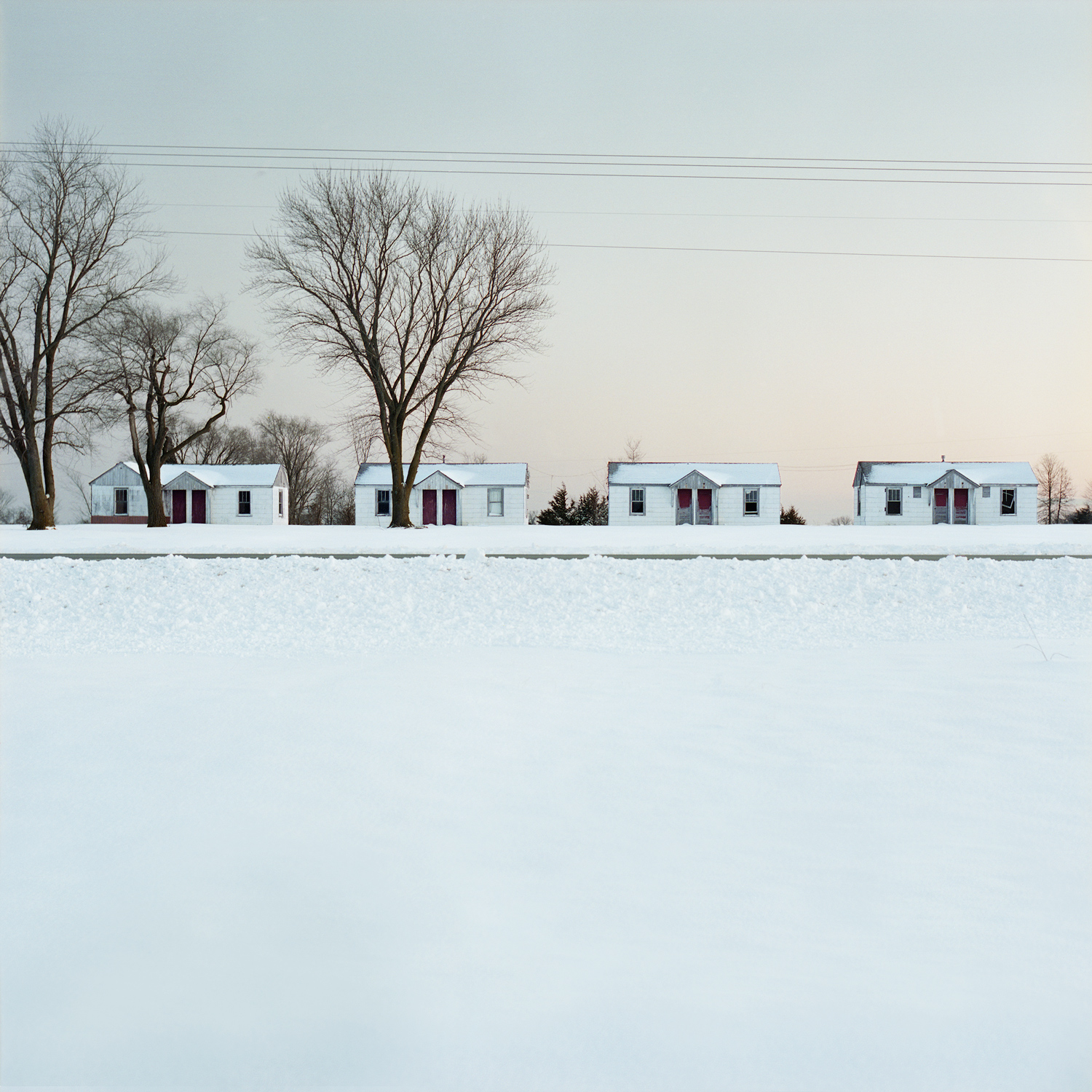 houses in snow