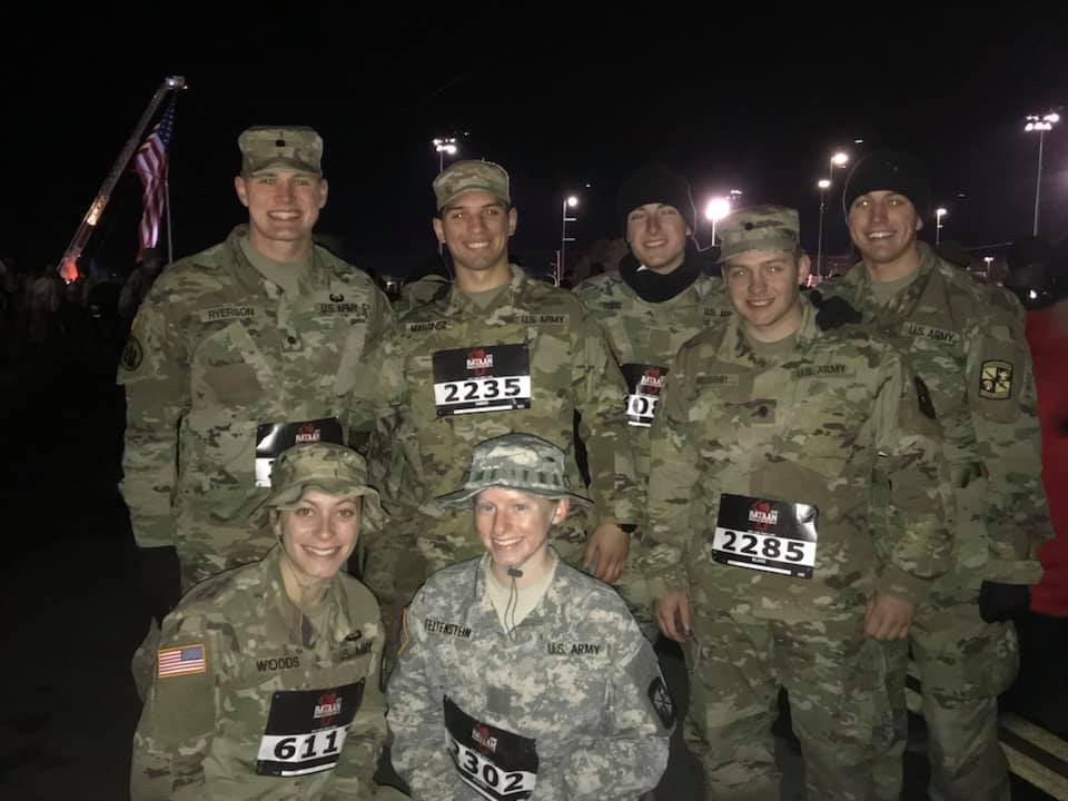 Several Mizzou ROTC cadets gather for a picture after participating in the Bataan Memorial Death March endurance race. There are approximately 290 schools in the U.S. that send ROTC cadets to the Bataan Memorial Death March each year.