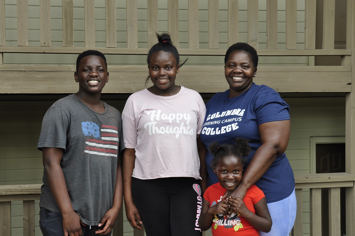 Naomi Nyaberi and her three children, Obama, Glory and Billiah, are currently staying in the Tara Apartments at MU until they can find housing back in Jefferson City. Mizzou offered temporary housing to MU staff, families and individuals from Lincoln University affected by the tornado.