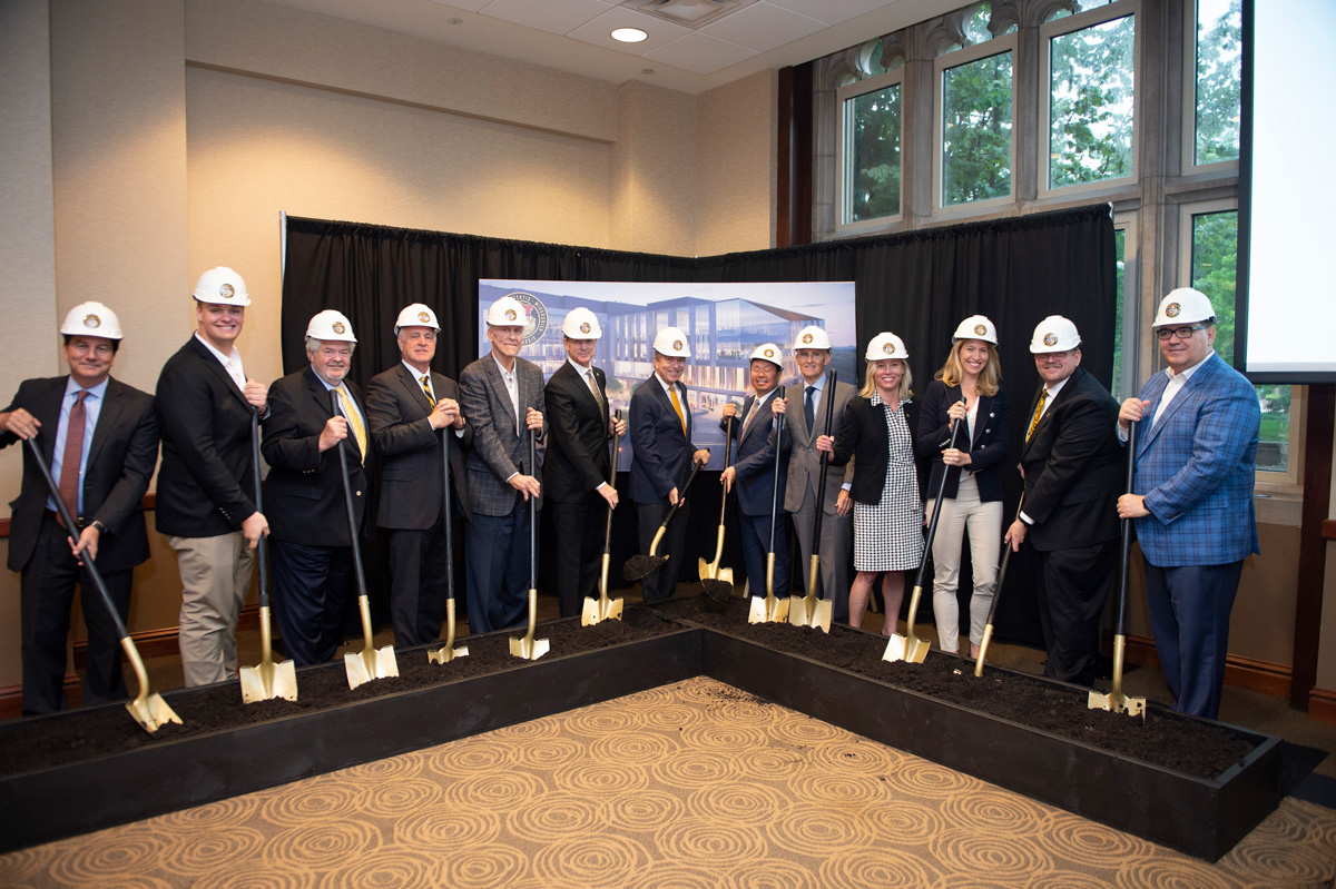 University of Missouri chancellors, elected officials and members of the UM System Board of Curators joined President Mun Choi and MU Chancellor Alexander N. Cartwright to officially break ground on the NextGen Precision Health Institute at MU.