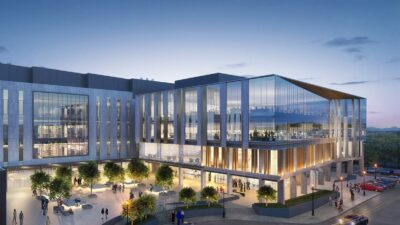 This is an artistic rendering of the NextGen Precision Health Institute