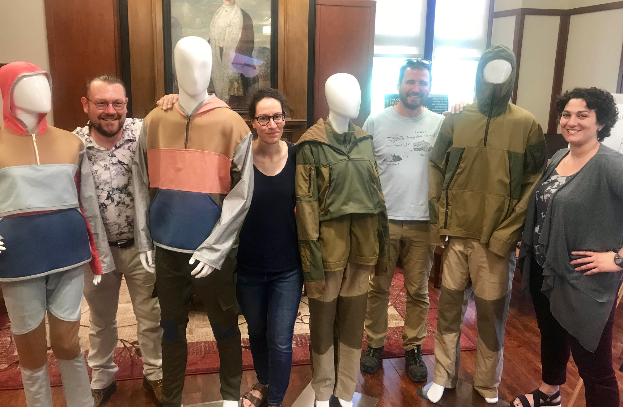 Abby Romine's work was featured in an exhibition in June on the MU campus. Romine did all of the pattern-making, material ordering, notions purchasing, as well as garment construction for her lava suits.