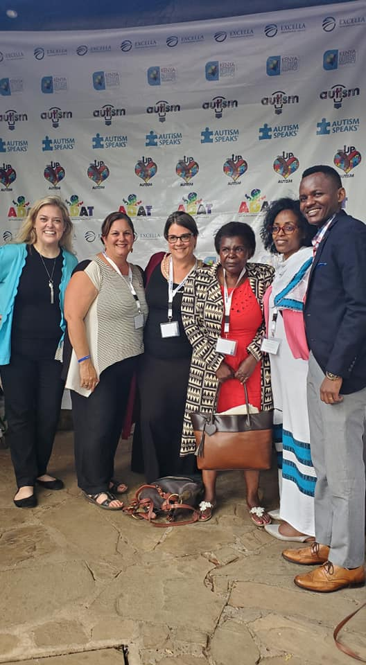 Sohl, left, met with professionals from more than 30 African countries dedicated to better understanding how to diagnose and treat autism.