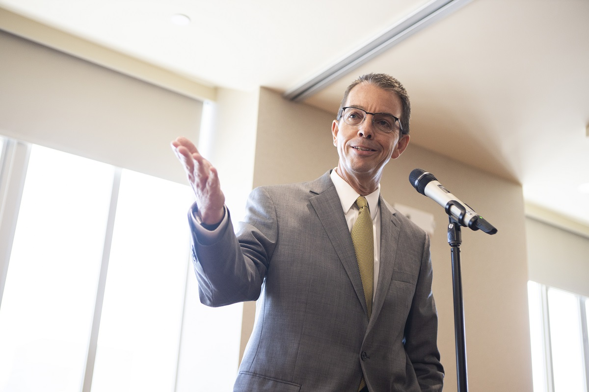 Marshall Stewart, vice chancellor for extension and engagement at MU, announced that MU Extension has comitted more than $10,000 to Mizzou Alternative Breaks to provide scholarships for 90 students.