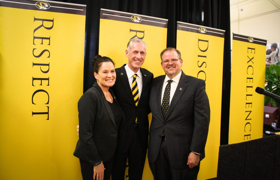This is a picture of Elizabeth Loboa, Jim Fitterling and Alexander Cartwright