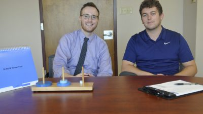 This is a photo of interns John and Dylan
