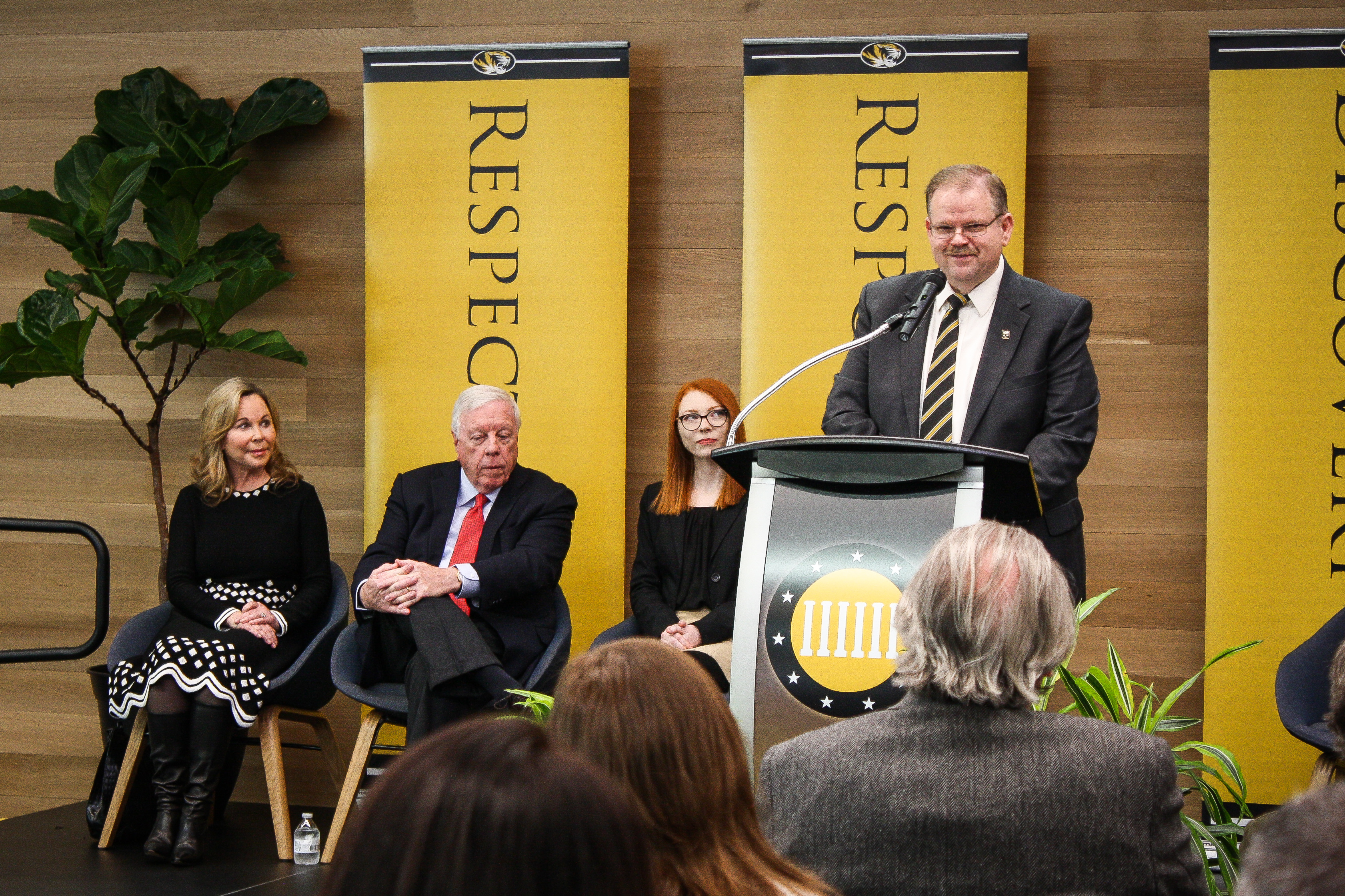 During the press conference, Chancellor Alexander N. Cartwright said that the support from the Kinder Foundation has established Mizzou as a global leader in the study of constitutional democracy.