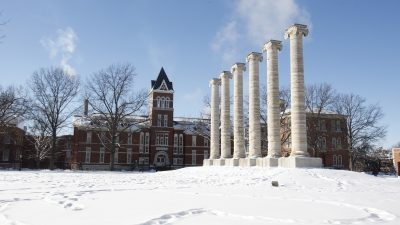 Several inches of snow fell in Columbia.