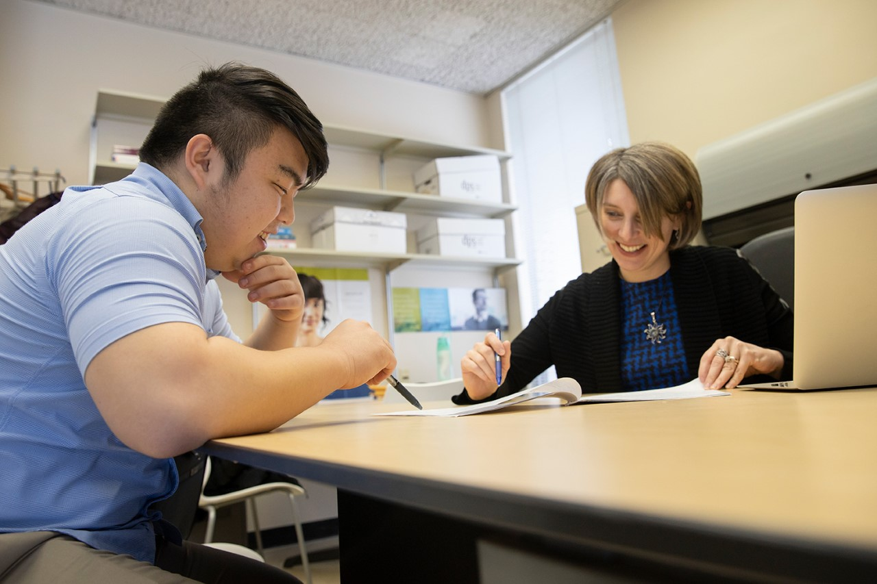 Xu studying with mathematics advisor Bobitan