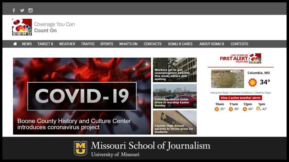 MU School of Journalism website