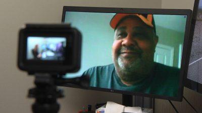 patient on video visit