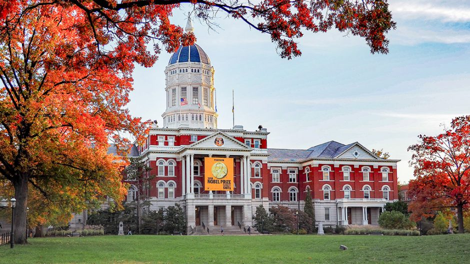 jesse hall in fall