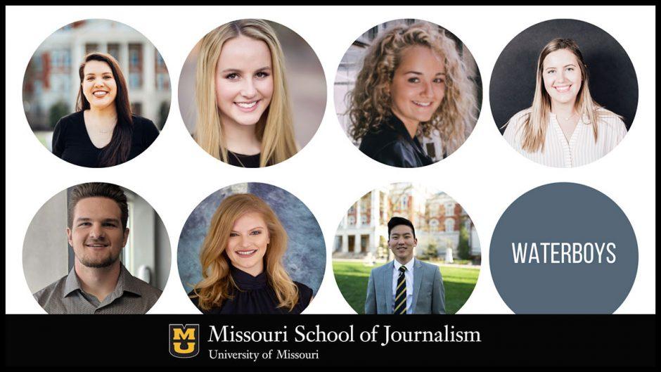 headshots of seven students