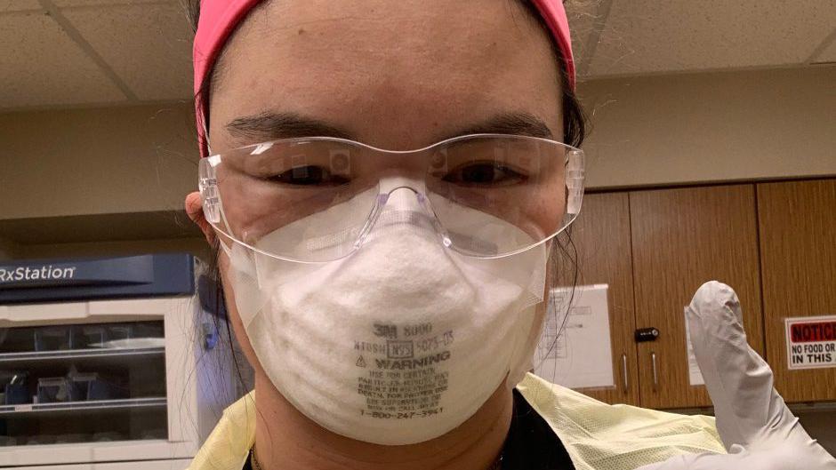nurse in PPE