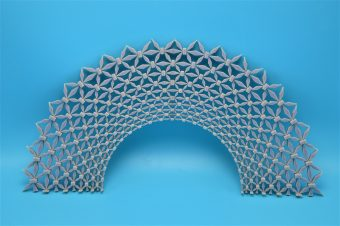 This structured lattice-type material protects against both types of energy waves — longitudinal and sheer — that can travel through the ground.