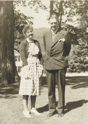 T.S. Eliot and Emily Hale in Dorset, Vermont during summer 1946. Photo courtesy of Princeton University Library