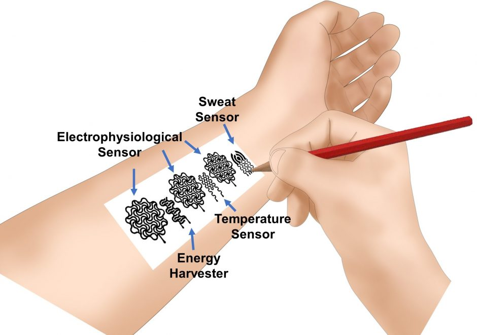 graphic of possible bioelectronic device