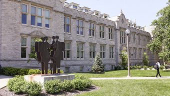 Gwynn and Stanley hall north facade, late summer