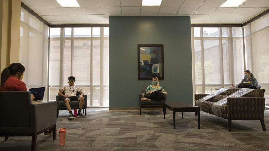 students in common space